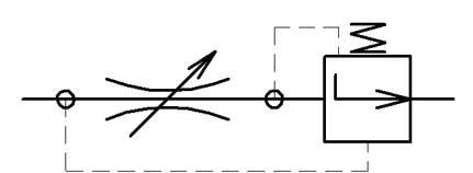 Двухлинейный регулятор расхода с клапаном разницы давления после дросселя