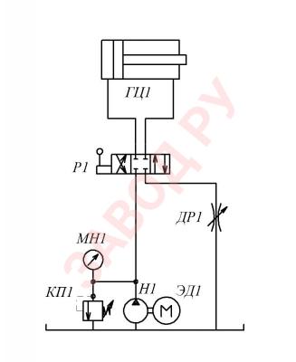 Схема последовательного регулирования с установкой дросселя в линию слива.
