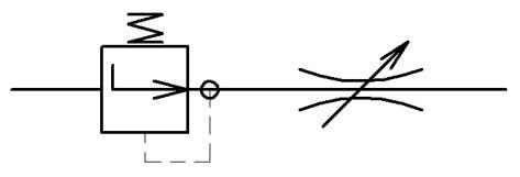 Двухлинейный регулятор расхода с компенсатором давления перед дросселем