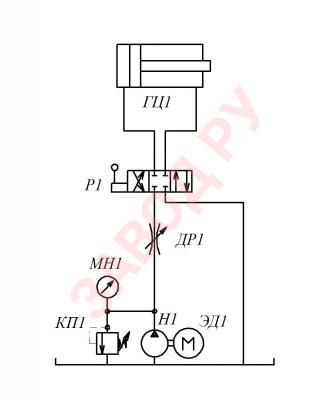 Схема последовательного регулирования с установкой дросселя в линию нагнетания.